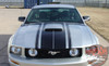 Ford Mustang FASTBACK TWO Boss Style Hood and Side Door Body Stripes Vinyl Graphics Decal Kit 2005 2006 2007 2008 2009