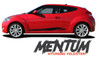 Hyundai Veloster MENTUM Vinyl Graphic Stripes Decal Kit for 2011 2012 2013 2014 2015 2016 2017 2018