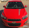 Chevy Sonic FLARE Hood Graphic Lower Rocker Panel Striping Vinyl Graphics and Decals 2012 2013 2014 2015 2016