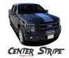 Ford F-150 CENTER STRIPE Center Hood Tailgate Racing Stripes Vinyl Graphics Decals Kit for 2009 2010 2011 2012 2013 2014 Models