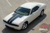 Dodge Challenger HOOD Factory OEM Style Split Hood Vinyl Racing Stripes Decals for 2008 2009 2010 2011 2012 2013 2014 Models