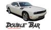 Dodge Challenger DOUBLE BAR Hood Fender Stripes Hash Slash Vinyl Graphic Decals Stripes 2010 2011 2012 2013 2014 2015 2016 2017 2018 2019 2020 2021