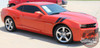 Chevy Camaro DOUBLE BAR LeMans Style Hood Fender Hash Stripes Vinyl Graphic Decal fits 2010 2011 2012 2013 2014 2015
