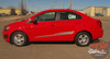 Chevy Sonic BOOM Hood Graphic Lower Rocker Panel Striping Vinyl Graphics and Decals 2012 2013 2014 2015 2016