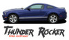 Ford Mustang THUNDER ROCKER Lower Door Panel Body Stripes Vinyl Graphic Decals 2013 2014