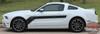 Ford Mustang FLIGHT Center Hood Side Door Hockey Stick Body Style Vinyl Graphics Stripe Decal Kit 2013 2014