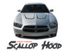 Dodge Charger SCALLOP HOOD Vinyl Graphics Accent Decal Stripe Kit for 2011 2012 2013 2014 Models