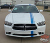 Dodge Charger EURO RALLY Offset Racing Stripes Bumper Roof Hood Vinyl Graphics Decal Stripe Kit for 2011 2012 2013 2014