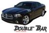 Dodge Charger RECHARGE DOUBLE BAR Hash Slash Hood Fender Vinyl Graphics Decal Striping Kit for 2011 2012 2013 2014 Models