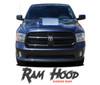 Dodge Ram HOOD Center Hood Vinyl Graphic Striping Decal Accent Kit 2009-2018 Models