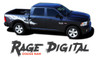 Dodge Ram RAGE DIGITAL Power Wagon Style Bed Striping Tailgate Decals Vinyl Graphics Kit 2009-2018 Models