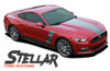 Ford Mustang STELLAR BOSS Hood and Side Door Body Vinyl Graphic Decals Stripes Kit 2015 2016 2017