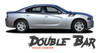 Dodge Charger RECHARGE DOUBLE BAR 15 Hood to Fender Hash Marks Vinyl Graphic Decals Stripe Kit for 2015 2016 2017 2018 2019 2020 2021