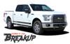 Ford F-150 BREAKUP ROCKER Lower Door Rocker Panel Body Stripes Vinyl Graphic Decals 2015 2016 2017 2018 2019 2020