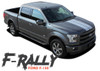 Ford F-150 F-RALLY Split Center Hood Tailgate Racing Stripes Vinyl Graphics Decals Kit for 2015 2016 2017 2018 2019 2020