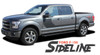 Ford F-150 SIDELINE Special Edition Appearance Package Style Door Hockey Stripe Vinyl Graphics Decals Kit 2015 2016 2017 2018 2019 2020