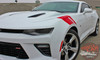 Chevy Camaro HASH MARKS Hood Fender Factory OEM Style Double Bar 3M Accent Vinyl Stripes Decal Graphic Kit for 2016 2017 2018 SS RS V6
