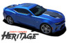 Chevy Camaro HERITAGE 50th Anniversary Indy 500 Trunk Blackout Vinyl Graphic Decal Kit for 2016 2017 2018 SS RS V6 Models