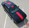 Dodge Challenger FINISHLINE Center Wide Rallye Redline Vinyl Graphic Hood Racing Stripes Hood Decal 2011-2019 2020 2021