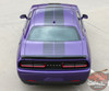 Dodge Challenger PULSE RALLY Strobe Hood to Trunk Vinyl Graphic Racing Rally Stripes Kit 2008-2019 2020 2021 Models