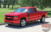 Chevy Silverado Side Stripes FLOW Special Edition Rally Hood Upper Body Hockey Accent Vinyl Graphic Decals 2016 2017 2018