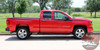 Chevy Silverado Door Stripes ACCELERATOR Upper Body Line Accent Rally Side Vinyl Graphic Decal Kit for 2014 2015 2016 2017 2018