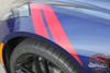 Chevy Corvette C7 HASH MARKS Double Bar Hood Fender Stripes Vinyl Graphic Decals Kit for 2014 2015 2016 2017 2018 2019