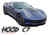 Chevy C7 Corvette HOOD Vinyl Graphic Decals Stripe Center Blackout Kit for 2014 2015 2016 2017 2018 2019