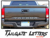 Toyota Tacoma Tailgate TEXT Letters Lettering Accent Trim Vinyl Graphic Striping Decal Kit 2015-2019 2020 2021