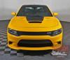 Dodge Charger HOOD '15 SE RT Hemi Daytona Mopar Blackout Center Hood Stripe Vinyl Graphics Decals 2015 2016 2017 2018 2019 2020 2021