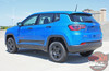 Jeep Compass COURSE Lower Rocker Door Body Line Accent Vinyl Graphics Decal Stripe Kit for 2017 2018 2019 2020 2021
