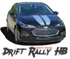 Chevy Cruze DRIFT RALLY HB Racing Stripes Hood Trunk Vinyl Graphics Decal Kit for 2016 2017 2018 2019