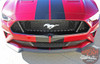 Ford Mustang Racing Stripes STAGE RALLY Lemans 7 inch Split Hood Roof Trunk Racing Rally Stripes Vinyl Graphics Decals Kit 2018 2019 2020 2021