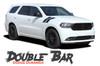 Dodge Durango DOUBLE BAR Hood Hash Marks Slash Stripes Decals Vinyl Graphics Kit 2011-2020 2021 Models