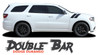 Dodge Durango DOUBLE BAR Hood Hash Marks Slash Stripes Decals Vinyl Graphics Kit 2011-2021 Models