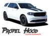 Dodge Durango PROPEL HOOD Dual Double Stripes Decals Vinyl Graphics Kit 2011-2020 2021 Models