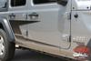Jeep Wrangler ADVANCE Side Door Decals Body Stripes Vinyl Graphics Kit for 2018-2020 2021 Models
