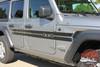Jeep Wrangler HAVOC Side Door Decals Body Stripes Vinyl Graphics Kit for 2018-2020 2021 Models