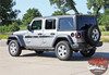 Jeep Wrangler MOJAVE Hood Graphic and Side Door Decals Stripes Kit for 2018 2019 2020 2021 Wrangler Models