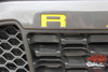 2019 Ford Ranger Grill Letters Inlay Decals Stripes GRILL TEXT Vinyl Graphics Kit 2019 2020 2021 2021