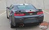 Close up of spoiler 2017 Chevy Camaro Wide Center Stripes OVERDRIVE 2016-2018