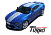 Chevy Camaro TURBO RALLY Bumper to Bumper Indy Style Vinyl Graphic Racing Stripes Rally Decals Kit for 2016 2017 2018 SS RS V6