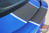 Trunk view of 2016 Chevy Camaro Center Hood Graphics 3M HERITAGE 2017-2018