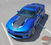 Front hood view COMBO 2016 Chevy Camaro Racing Stripes HERITAGE 2017 2018