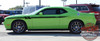 Side View of Green 2018 Dodge Challenger Side Decals FURY 2011-2019 2020 2021