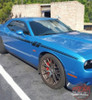 Side View of Blue 2018 Dodge Challenger Decals FURY 2011-2020 2021