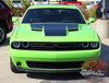 Top View of Green 2018 Dodge Challenger Hood Decals CHALLENGE HOOD 2015-2020 2021