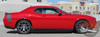 View of Rear Red 2017 Dodge Challenger Rear Graphics TAIL BAND 2015-2020 2021