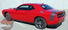 View of Rear Red 2017 Dodge Challenger Rear Stripes TAIL BAND 2015-2020