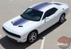 Front View of 2017 Dodge Challenger Shaker Stripes SHAKER 2015-2020 2021